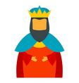 christian epiphany king icon flat style vector image vector image