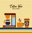 coffee maker flat vector image