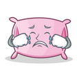crying pillow character cartoon style vector image