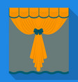 curtains single icon in flat stylecurtains vector image