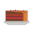 delicious sweet cake vector image