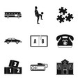 discipline icons set simple style vector image vector image