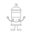 dotted shape kawaii happy aerosol spray with arms vector image vector image