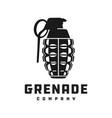 explosive grenade silhouette logo vector image