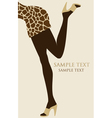 Female legs with giraffe patterned dress vector image vector image