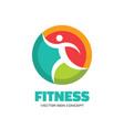 fitness - logo concept human vector image