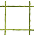 frame made of green bamboo sticks bounded with vector image vector image