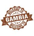 gambia round ribbon seal vector image vector image