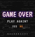 game over background vector image vector image