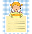 girl eating vector image vector image