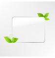 Glass Frame With Leaf vector image vector image