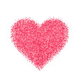 glitter red heart vector image