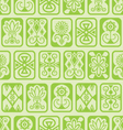 Green tile pattern vector image