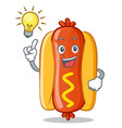 have an idea hot dog cartoon character vector image