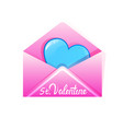 heart in envelope valentines day celebration love vector image