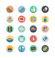 Hotel and Restaurant Flat Colored Icons 7 vector image vector image