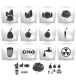 icons set Nature environment vector image vector image