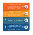 infographics from color strips modern vector image