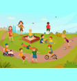 kids playing composition vector image vector image