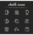Kitchen electronics chalk icons set vector image vector image