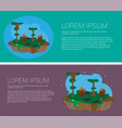 landscapes of the future climate change vector image vector image