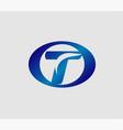 letter t logo symbol template elements vector image vector image