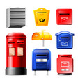 mail box post mailbox or postal mailing vector image vector image