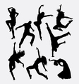 modern dance male and female silhouette vector image vector image