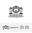 mr barbershop logo vector image