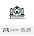 mr barbershop logo vector image