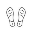 orthopedic insoles flat foot line icon vector image
