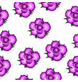 pink roses seamless pattern background vector image vector image