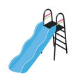 playground slide with ladder isolated on white vector image vector image