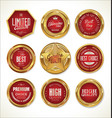 quality golden label collection vector image vector image