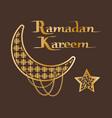 ramadan kareem sightings of crescent moon star vector image vector image