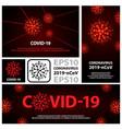 red coronavirus virus banners set flat vector image