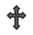 religious symbol-cross vector image vector image