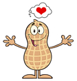Royalty Free RF Clipart Funny Peanut Cartoon vector image vector image