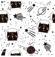 seamless childish pattern with cute cats vector image vector image