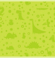 seamless green pattern with cartoon funny vector image