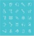 set line icons prosthetics vector image