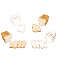 Set of bread vector image vector image