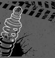 shock absorber post on a dark background vector image vector image