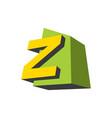 sign letter z vector image vector image