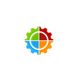target gear logo icon design vector image vector image