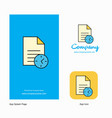 task on time company logo app icon and splash vector image