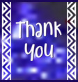 thank you banner trendy flat geometric print vector image