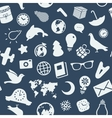 the pattern various objects and symbols vector image vector image