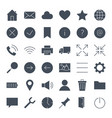 ui solid web icons vector image