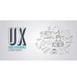 UX User Experience Background concept with Doodle vector image vector image